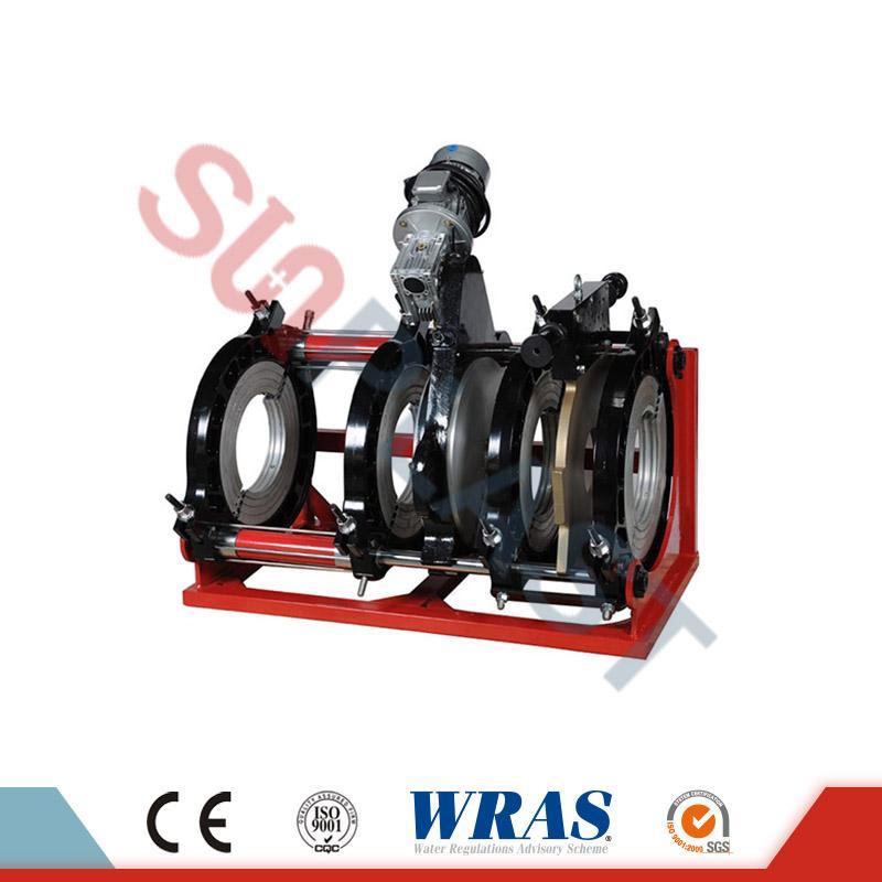 एचडीपीई पाईपसाठी 280-450 मिमी हायड्रोलिक बट फ्यूजन वेल्डिंग मशीन