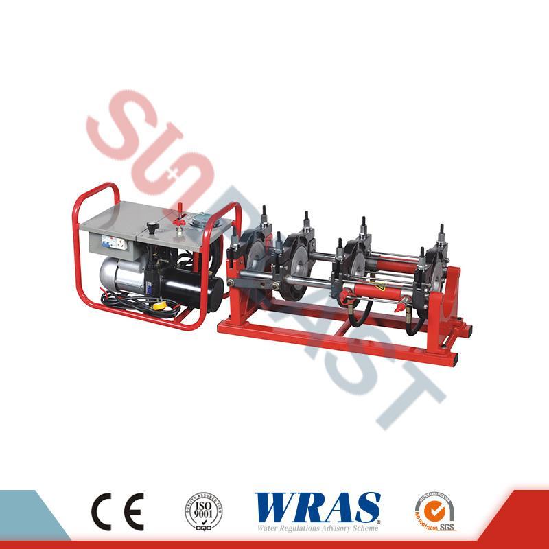 एचडीपीई पाईपसाठी 63-160 मिमी हायड्रोलिक बट फ्यूजन वेल्डिंग मशीन